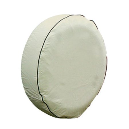 45355 Vinyl Spare Tire Cover (28 inches , off-white), Fits 28 diameter tire; cover measures 29.06 in diameter By Camco From USA