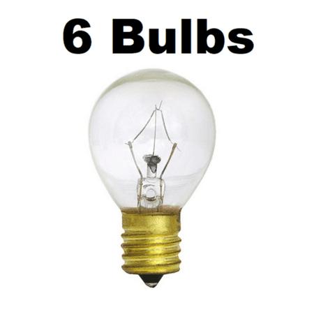 6 x 25W Lava Lamp Light Bulb S Type E17 Base 25 Watt S11, 25S11, 25S11N, S11N25