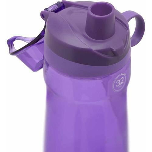 Pogo BPA-Free Plastic Water Bottle with Chug Lid, 32 oz