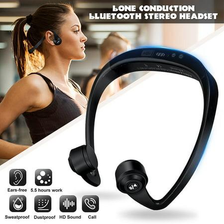 Wireless Headphones Bone Conduction bluetooth Stereo Headset Open Ear Earphone CVC