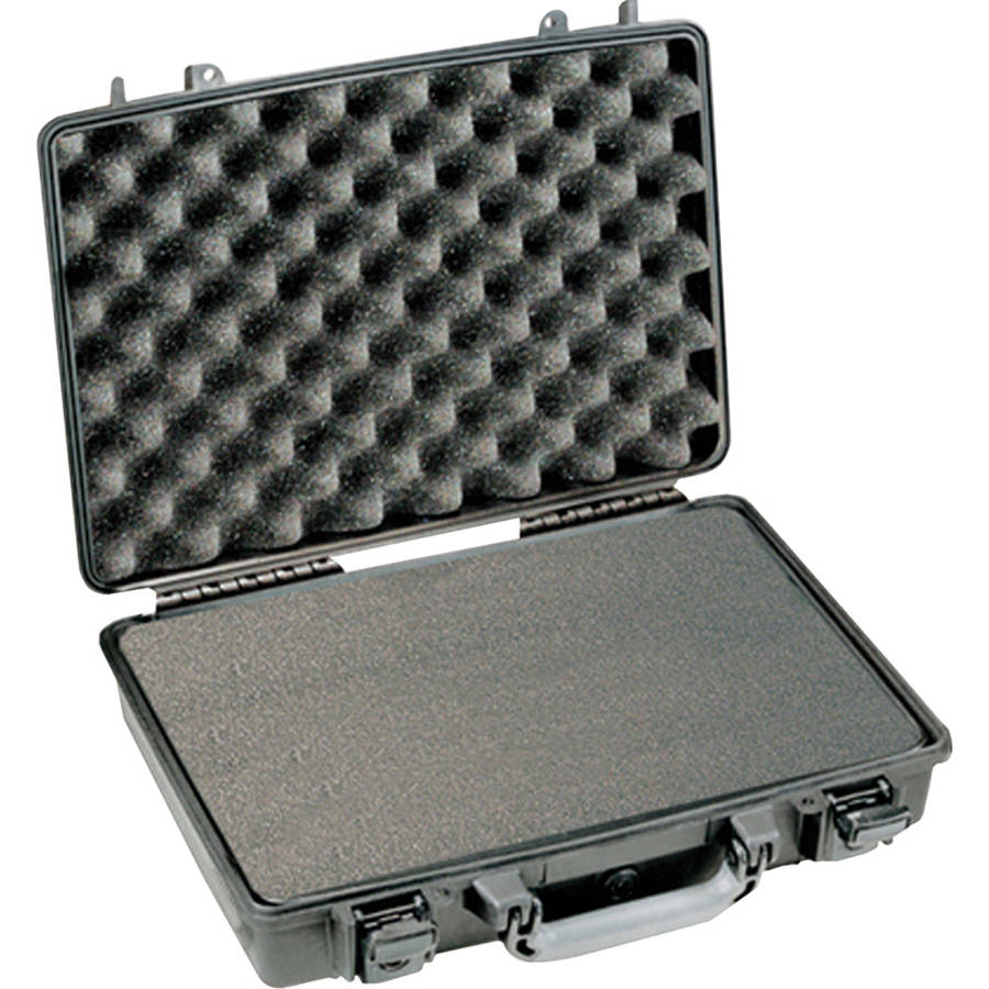 Pelican 1490CC2 Laptop PC Hard Case with Lid Organizer and Foam, Black