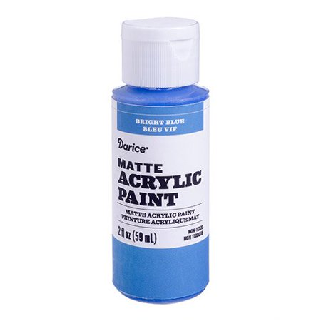 Shading Ink - Smooth on this bright blue matte acrylic paint to add bold color to your crafts. The small bottle provides enough for detail work and shading.