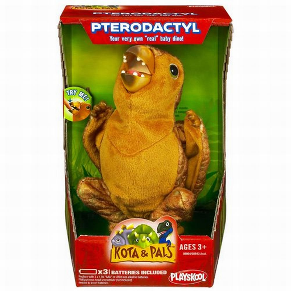 Playskool Kota and Pals Hatchling Pteradoctyl Plush Bird Dinosaur Roars by Hasbro