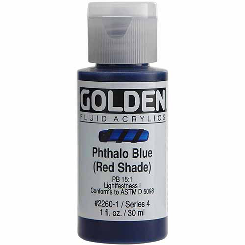 Golden Fluid Acrylics (Phthalo Blue/Red Shade) Golden Fluid Acrylics (Phthalo Blue/Red Shade) - 1 oz.