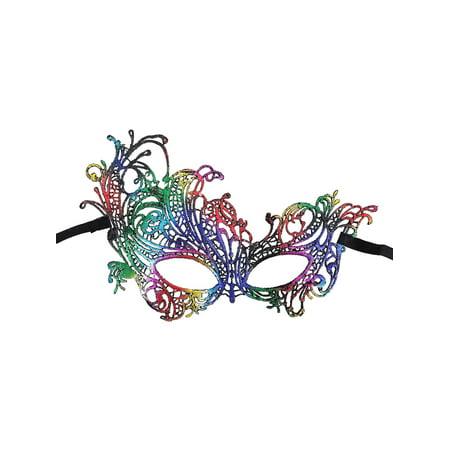 Women's Mythical Goddess Lace Phoenix Masquerade Mask, Rainbow_Phoenix - Goddess Phoenix