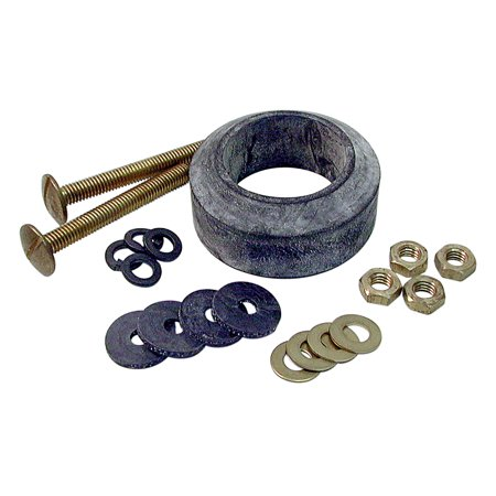 DANCO Durably Constructed Tank to Bowl Toilet Repair Kit for Gerber, 3/8-Inch x 3-1/4-Inch Bolts, 1-Kit (88193) Black Wellworth Toilet Tank