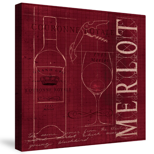 Laural Home Wine Blueprint by Marco Fabiano Graphic Art on Canvas