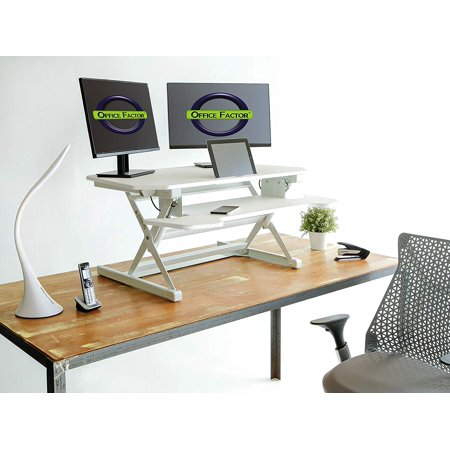 Cool Office Factor Adjustable Standing Desk For Home Or Office Stand Up Desk With Computer Riser Keyboard Tray Tablet Holder 38 Inch Wide Platform Gmtry Best Dining Table And Chair Ideas Images Gmtryco