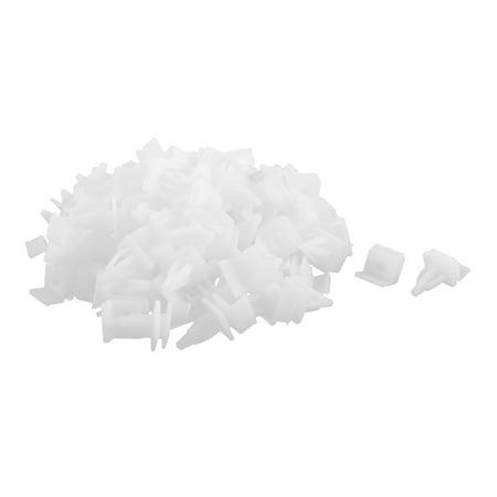100 Pcs White Plastic Splash Defender Push-Type Trim Mat Rivet for Honda - image 2 of 2