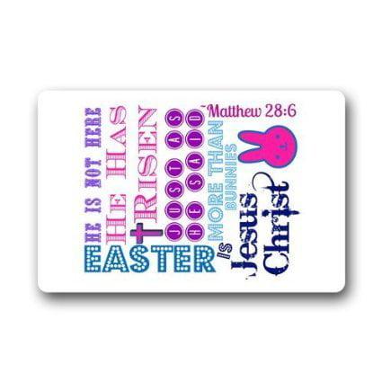 - WinHome Happy Easter Doormat Floor Mats Rugs Outdoors/Indoor Doormat Size 23.6x15.7 inches