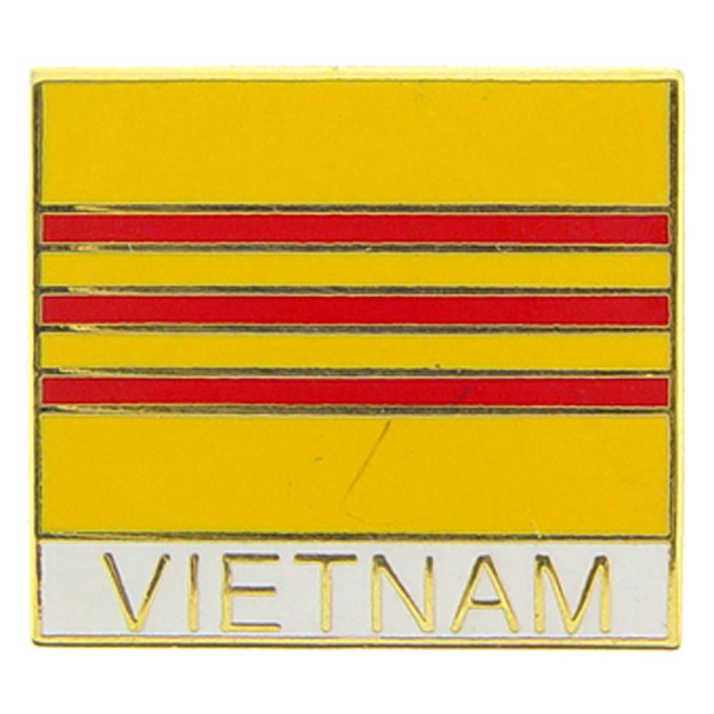 "Vietnam Flag Pin 1"""