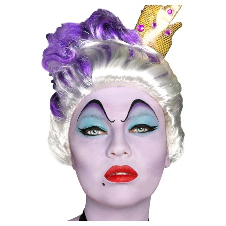 The Little Mermaid Ursula Makeup Kit, With Eyebrow Tattoos, Sponges, and More