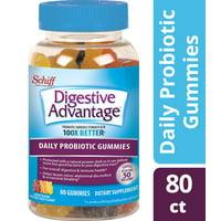 Digestive Advantage Daily Probiotic Gummies, Natural Fruit Flavors - 80 Gummies