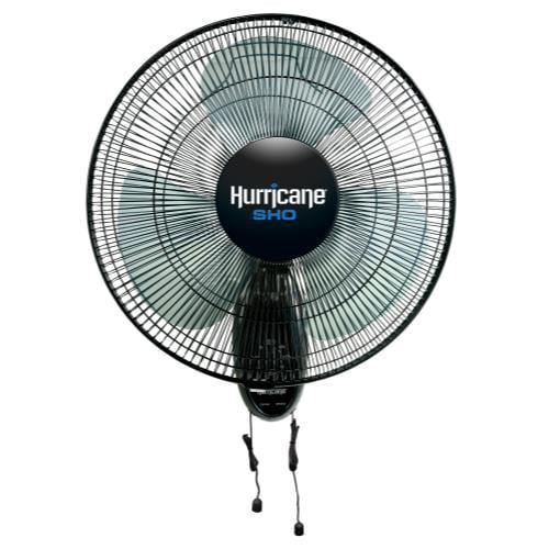 Hurricane SHO Oscillating Wall Mount Fan 16 in