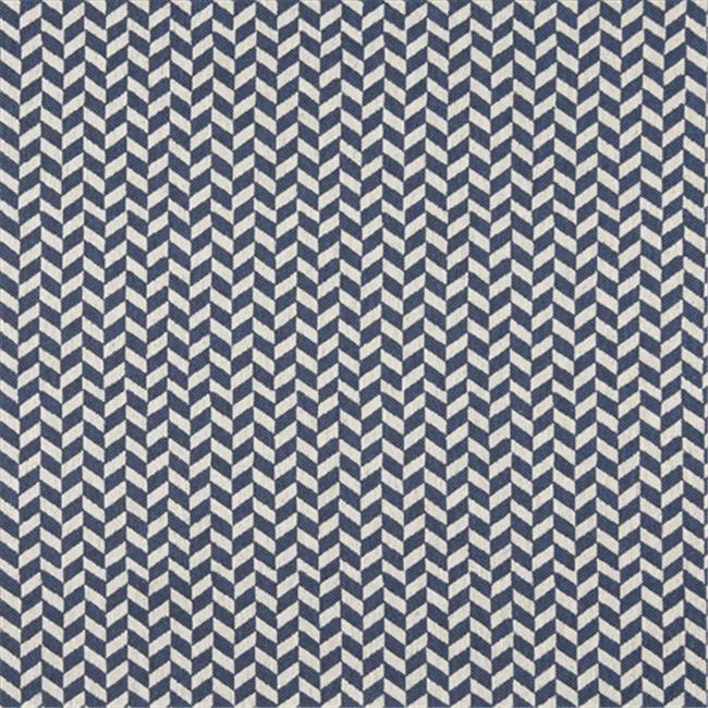 Designer Fabrics K0004E 54 in. Wide Blue And Off White, Herringbone Slanted Check Designer Quality Upholstery Fabric