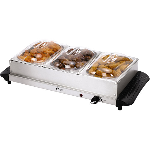 oster triple buffet server and warming tray walmart com rh walmart com buffet warming tray walmart buffet warming tray canada