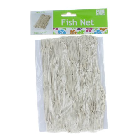 Cotton fish net natural decor tropical luau 5 39 x 14 for Fishing net walmart