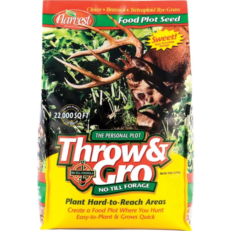 Evolved Harvest Throw & Gro No-Till Forage Food Plot Seed