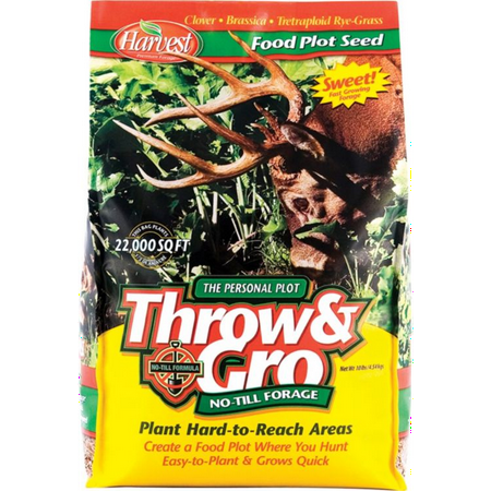 Evolved Harvest Throw & Gro No-Till Forage Food Plot (Easy To Grow Food Plots For Deer)