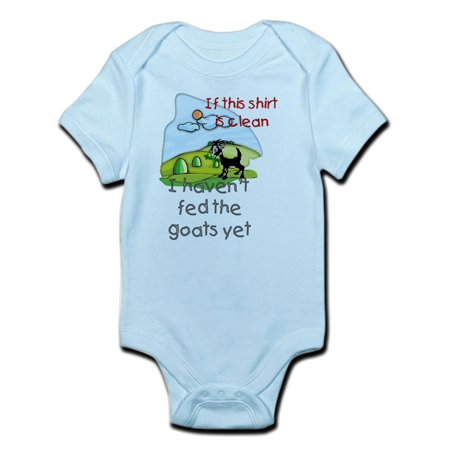 Baby Goat Leather - CafePress - Haven't Fed Goats Yet Infant Bodysuit - Baby Light Bodysuit