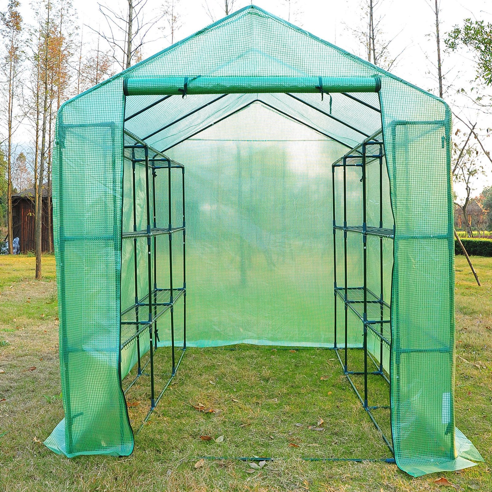 Outsunny 8L x 6W x 7H ft. Portable 6 Shelf Greenhouse
