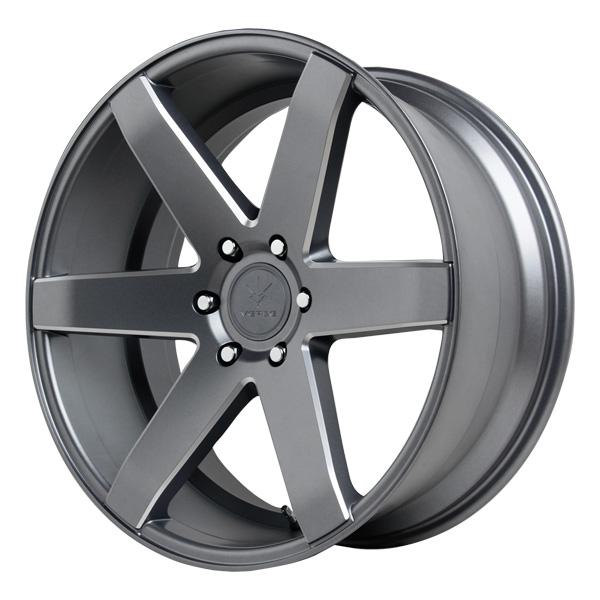 "22"" Inch Verde V24 Invictus 22X9.5 5x139.7 +18mm Graphite/Milled Wheel Rim"