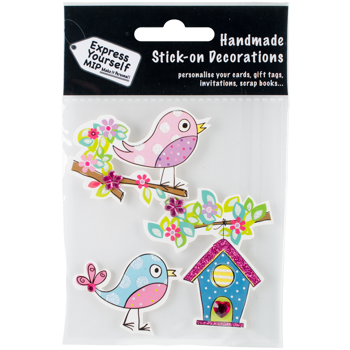 Express Yourself MIP 3D Stickers-Bird & Birdhouse