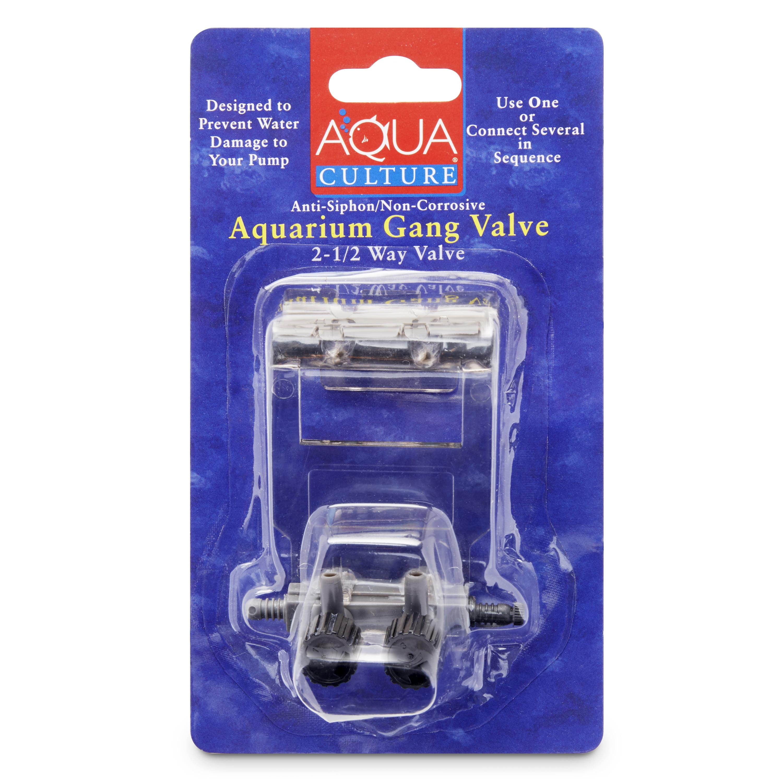 Aqua Culture 2-1/2 Way Aquarium Gang Valve
