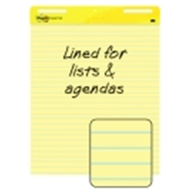 Post-It 25 x 30 in. Yellow Self-Stick Easel Pad, Lined - 30 Sheets & Pad, Pack 2
