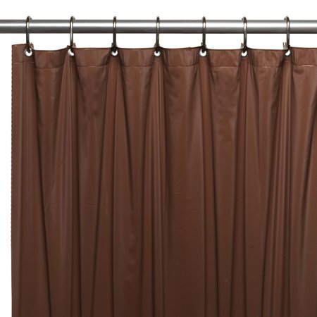 Hotel Collection, 8 Gauge Vinyl Shower Curtain Liner w/ Metal Grommets in Brown