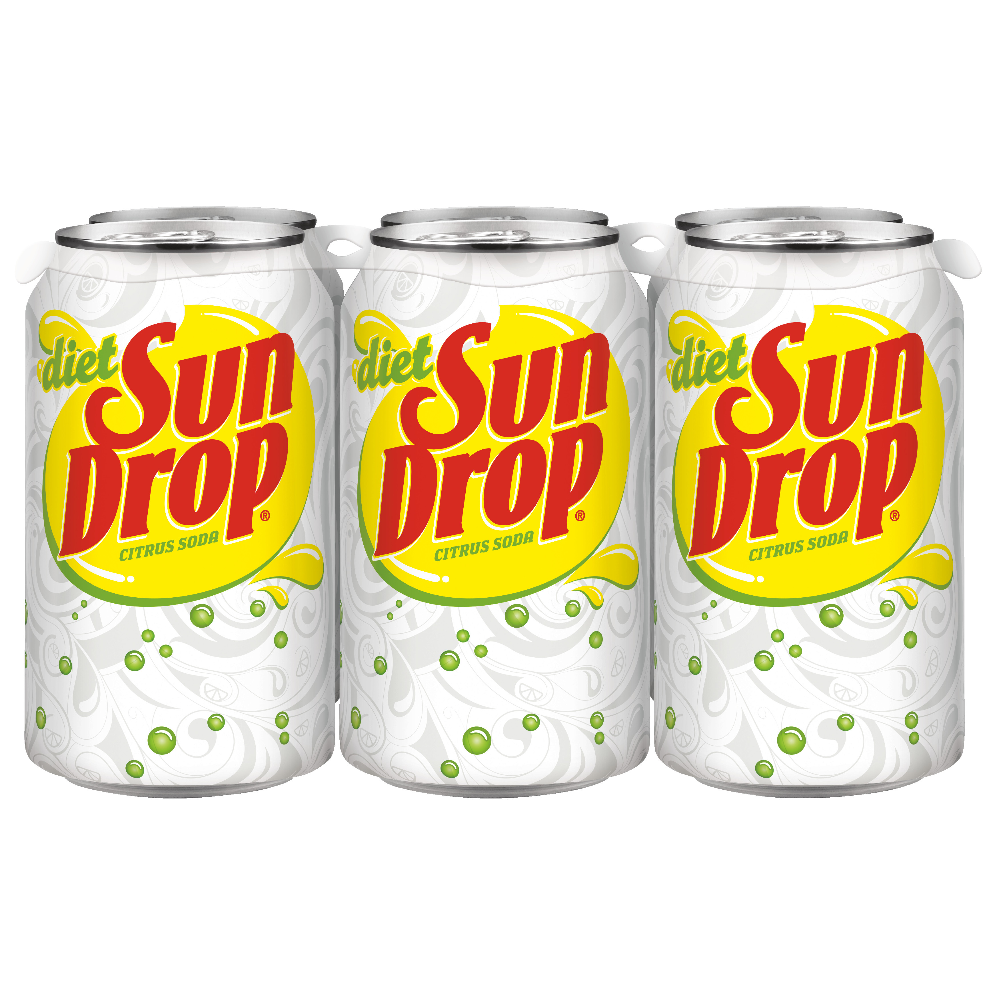 Diet Sun Drop, 12 fl oz, 6 pack