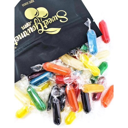 Assorted Fruit Flavored Candies - Rods Hard Candy - Wrapped 2 pounds bag