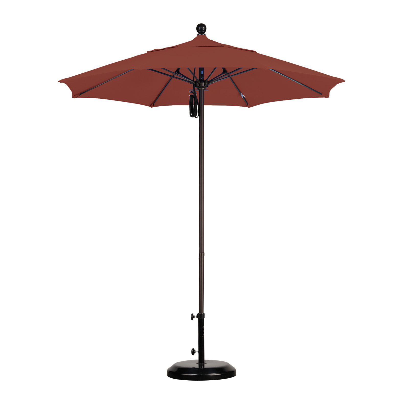 7.5' Fiberglass Market Umbrella PO DVent Bronze/Sunbrella/BayBrown