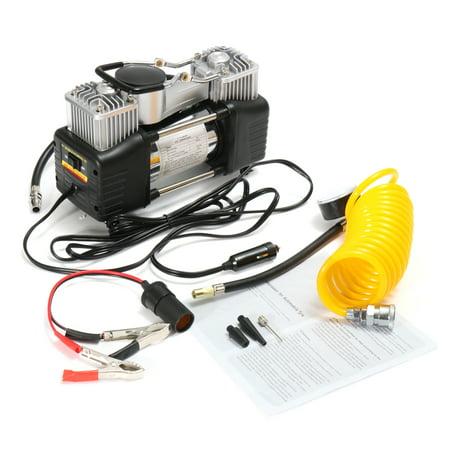 Mohoo 12V 150PSI Double Cylinder Car Air Compressor Pump Car Tyre Inflator Pressure Pump Portable
