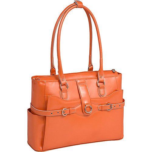 McKlein USA Willow Springs Leather Ladies Briefcase - Orange