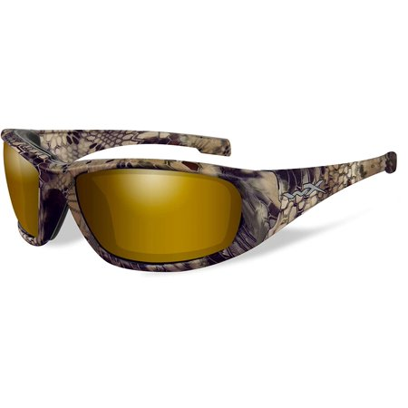 Wiley X WX Boss Men's Sunglasses, Polarized Venice Gold Mirror (Amber) Lens / Kryptek Highlander Frame - CCBOS12