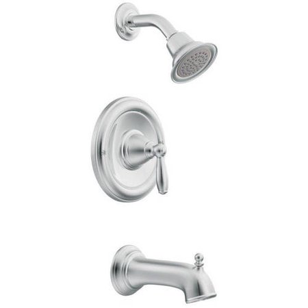Moen Brantford Bath and Shower Faucet with Posi-Temp Pressure Balanced Trim, Available in Various (Moen Tub Shower Trim Kit Oil Rubbed Bronze)