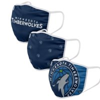 Minnesota Timberwolves FOCO Face Covering (Size Small) 3-Pack