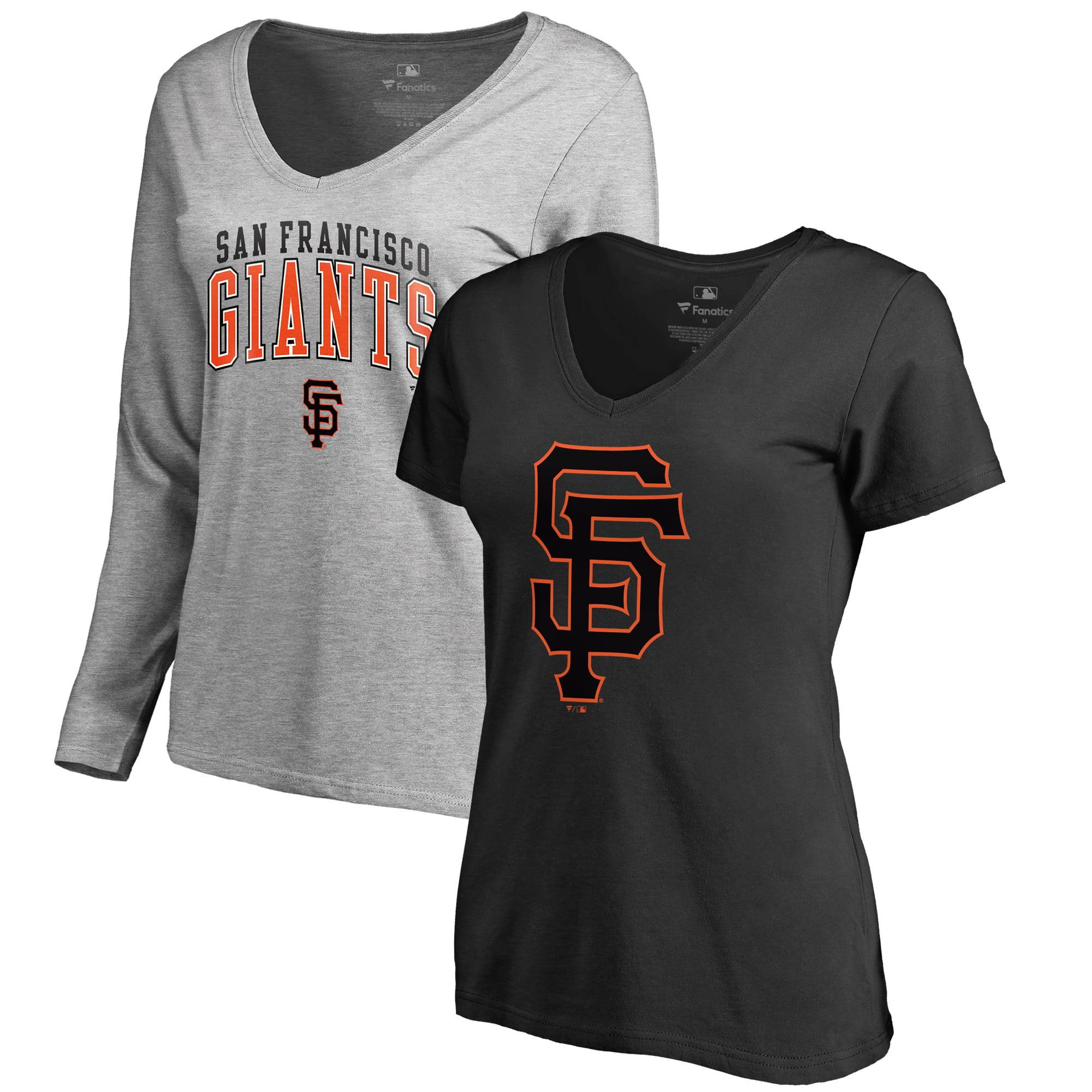 San Francisco Giants Fanatics Branded Big & Tall Combo T-Shirt Set - Black/Heathered Gray