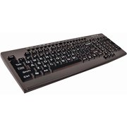 Maxell Full Size Keyboard with Large Print Letters, Black