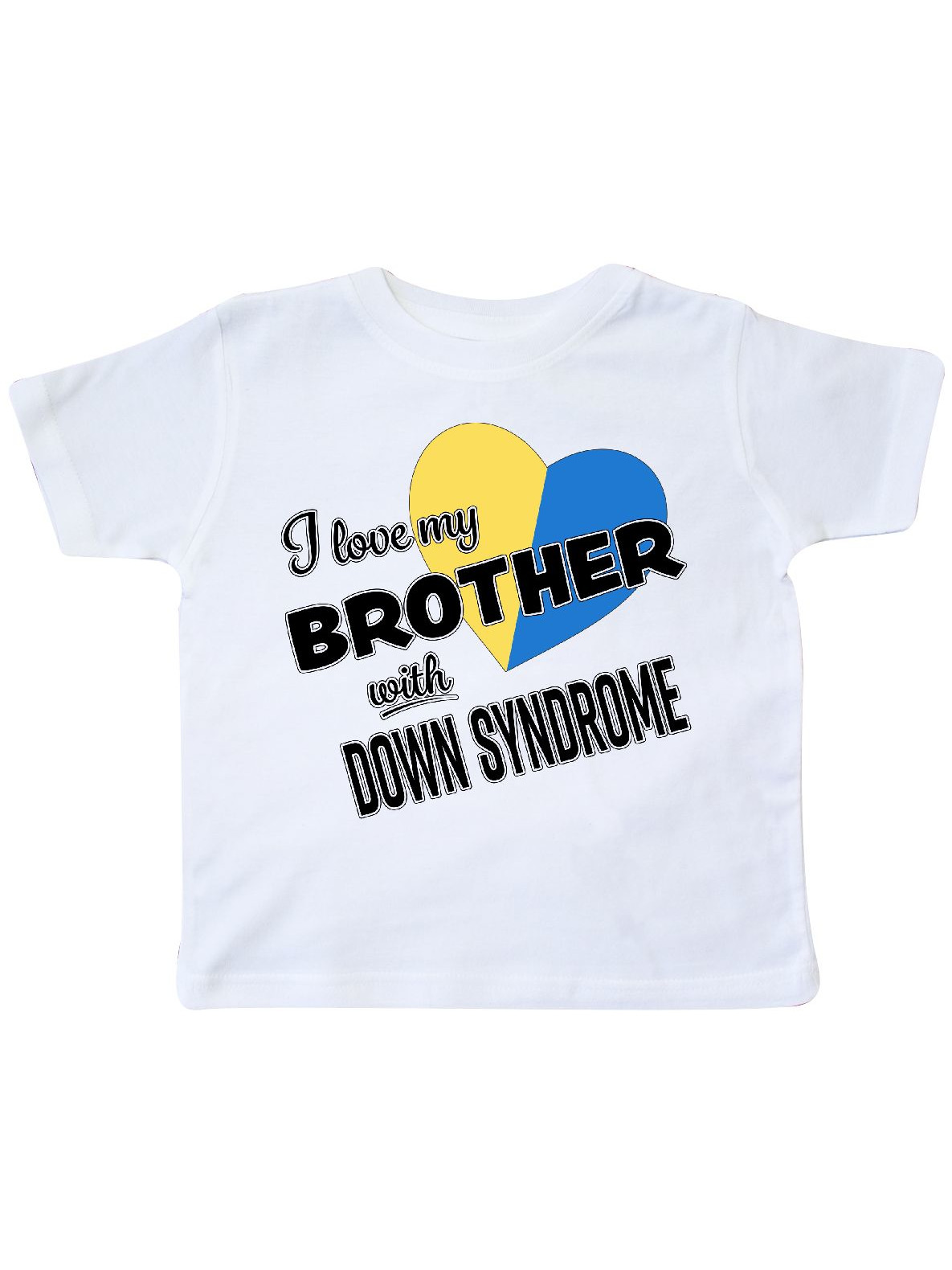 6e49b8fad Clothing, Shoes & Accessories Tops & T-Shirts Inktastic I Love My Brother  With Down Syndrome ...
