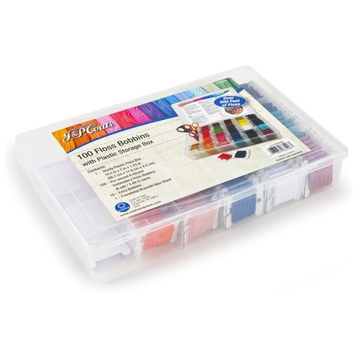 J Amp P Coats Organizer With Embroidery Floss  Walmart