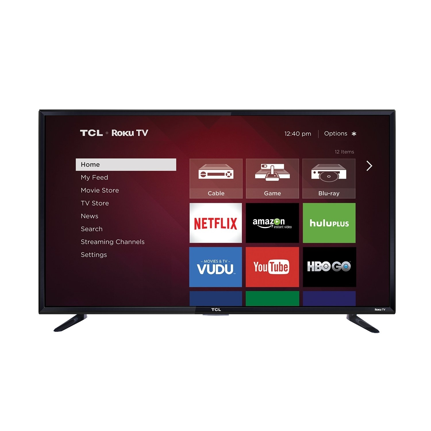 "TCL Roku 48FS3750 1080p 120Hz 48"" Smart LED TV, Black (Certified Refurbished)"