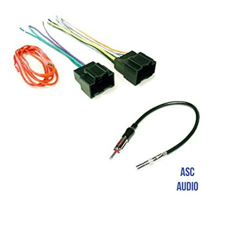 ASC Audio Car Stereo Radio Wire Harness Plug and Antenna Adapter for on tundra wiring harness, 4runner wiring harness, enclave wiring harness, astro van wiring harness, grand marquis wiring harness, tahoe wiring harness, h3 wiring harness, camaro wiring harness, vue wiring harness, fj cruiser wiring harness,