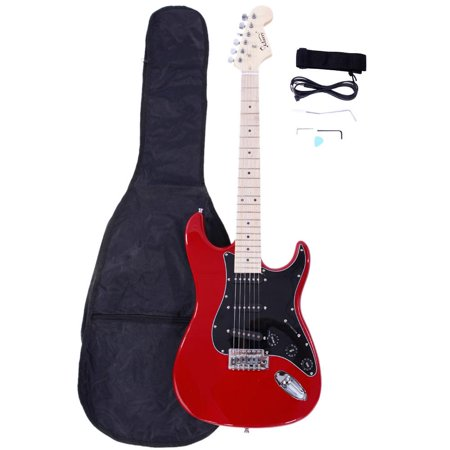 Glarry Burning Fire 22 Frets Basswood Beginner Electric Guitar w/ Accessories 8 Colors