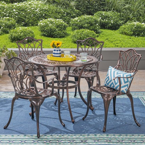 Fleur De Lis Living Brittnie Outdoor 5 Piece Dining Set
