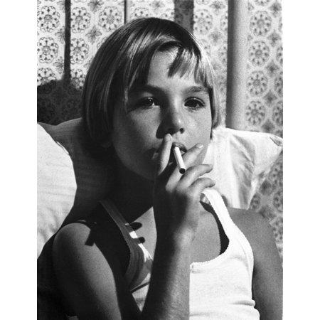Tatum ONeal Puffing Cigarette in Classic Photo - Puff Cigarettes