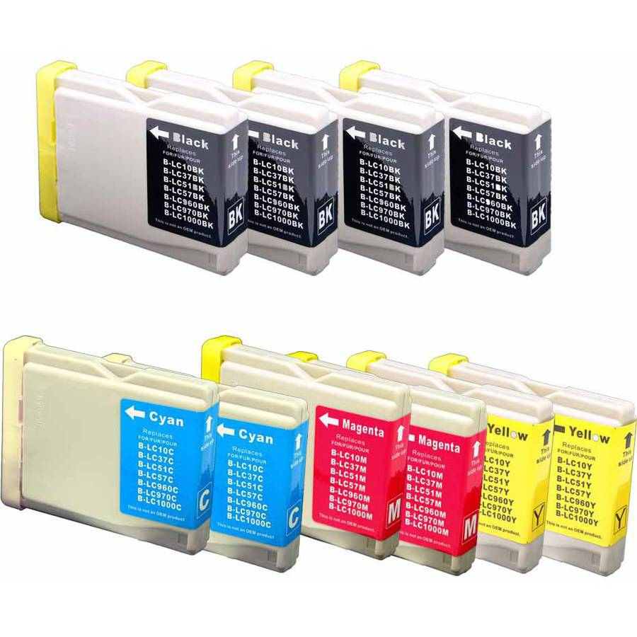 BROTHER LC51 SERIES 10 PACK: 4 BLACK & 2 OF EACH CYAN, YELLOW AND MAGENTA INK CARTRIDGES