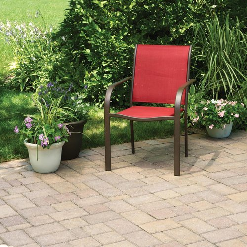 Mainstays Stacking Sling Chair, Red Paprika
