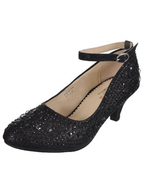 Girls Mixed Gem Pumps (Youth Sizes 13 - 5)